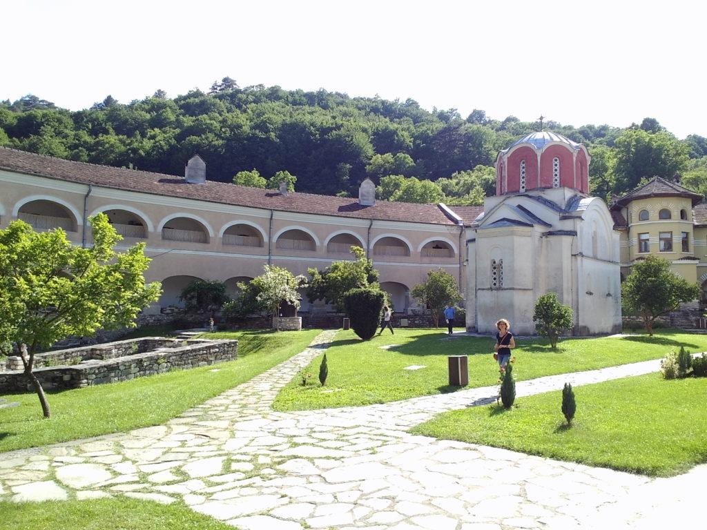 Pogled na konak Manastira Studenica